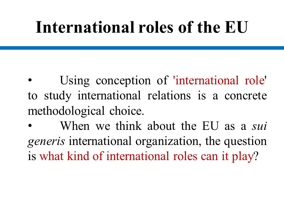 International roles of the EU