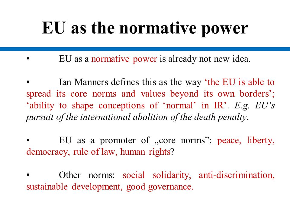 EU as the normative power