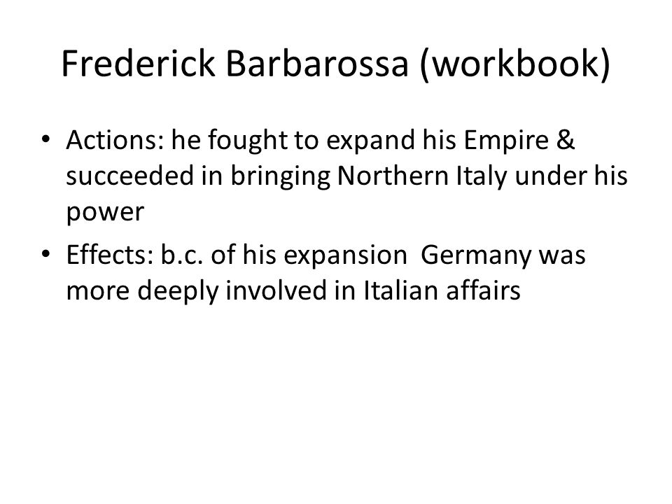 Frederick Barbarossa (workbook)