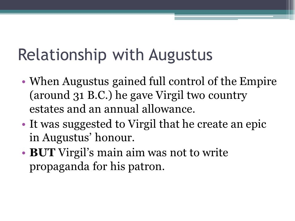 Relationship with Augustus