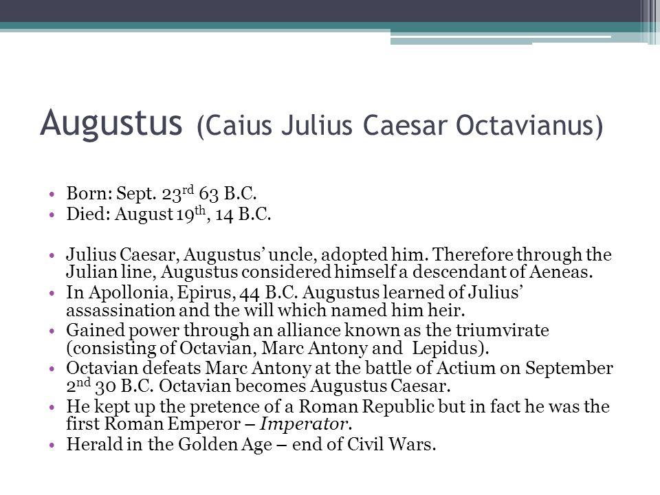 Augustus (Caius Julius Caesar Octavianus)
