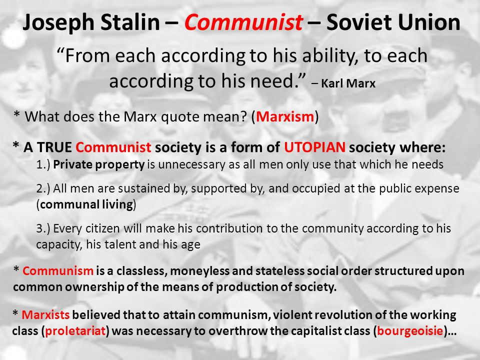 Joseph Stalin – Communist – Soviet Union