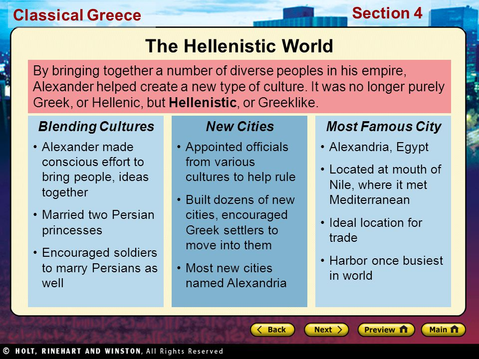 The Hellenistic World