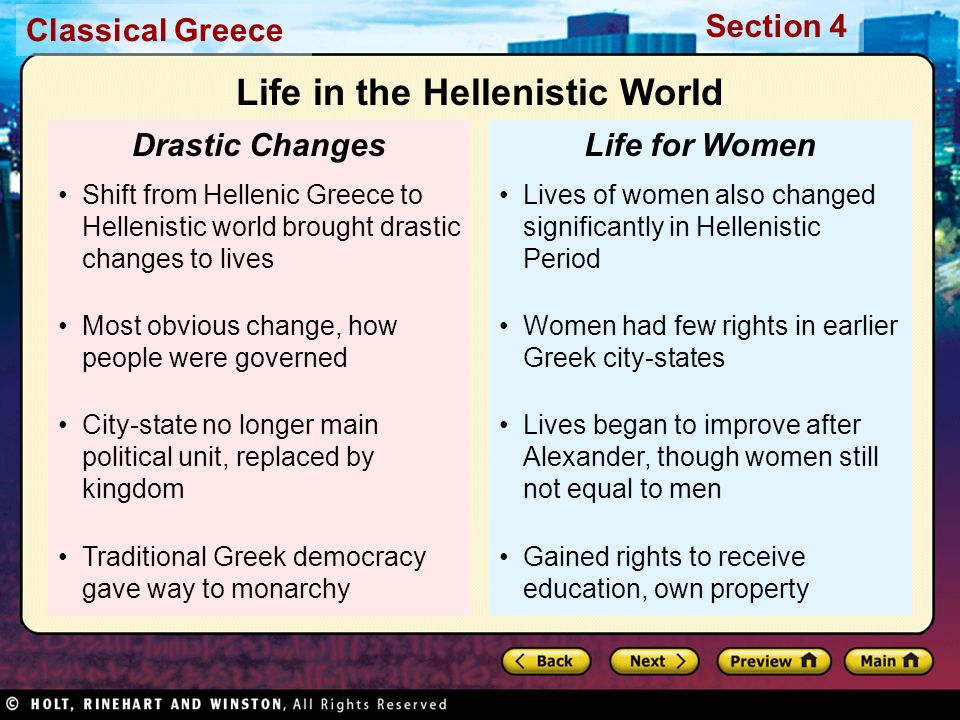 Life in the Hellenistic World