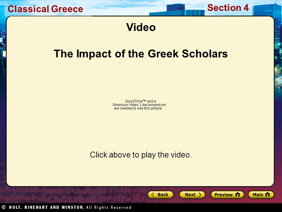 Video The Impact of the Greek Scholars