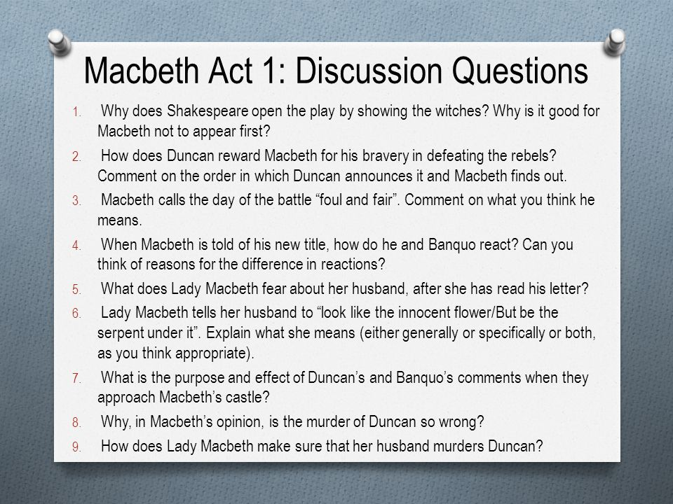 the impact of the witches in macbeths decision and thinking To access full essays simply join our writing community by enter your email address choose a password donate a paper and you are good to go email: a valid email.