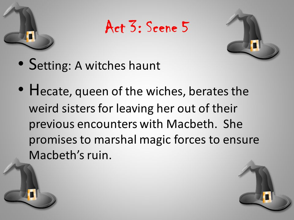 Act 3: Scene 5 Setting: A witches haunt.