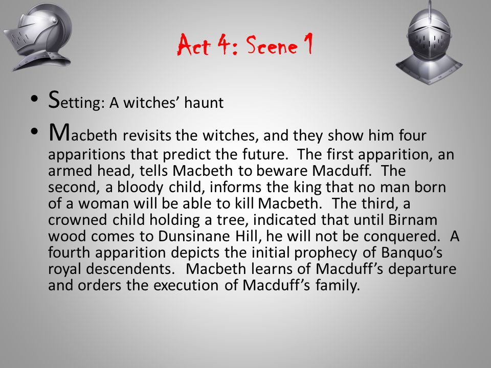 Act 4: Scene 1 Setting: A witches' haunt