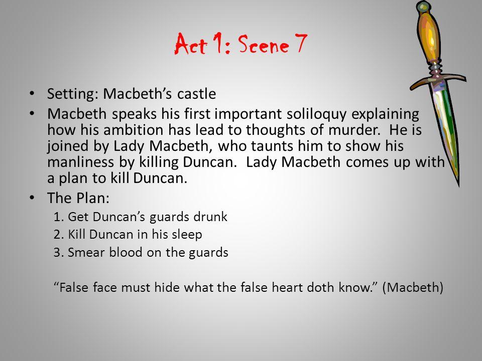 Act 1: Scene 7 Setting: Macbeth's castle