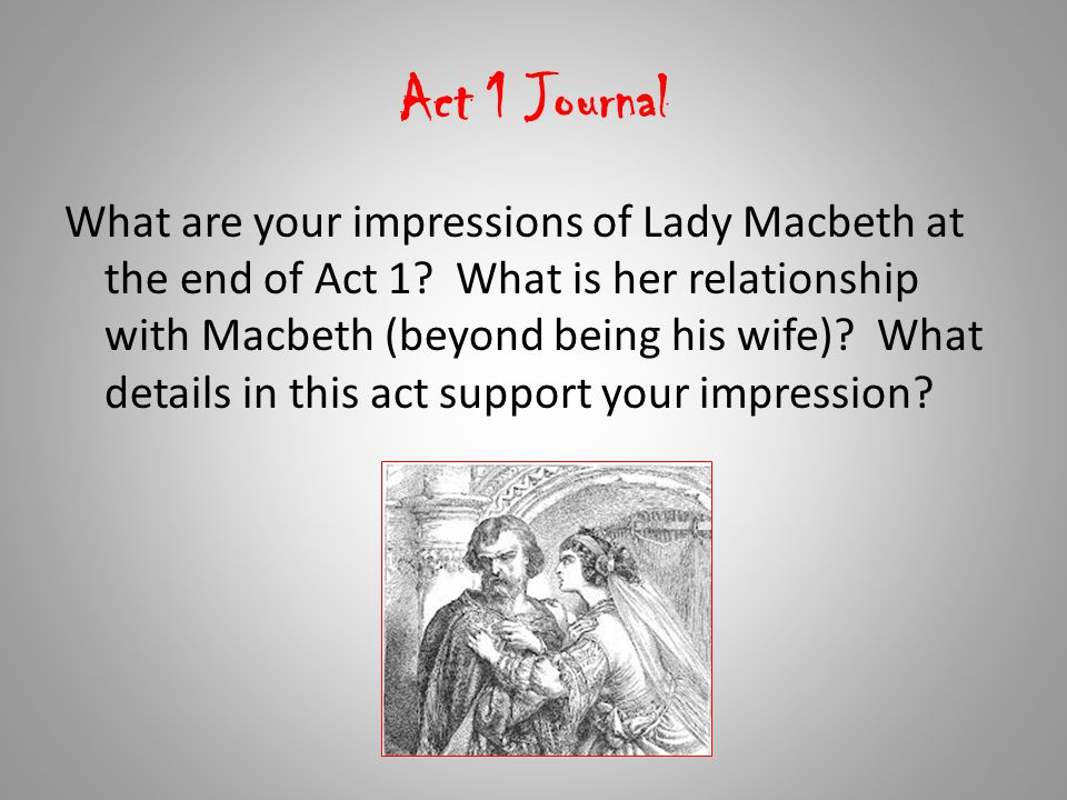 Act 1 Journal