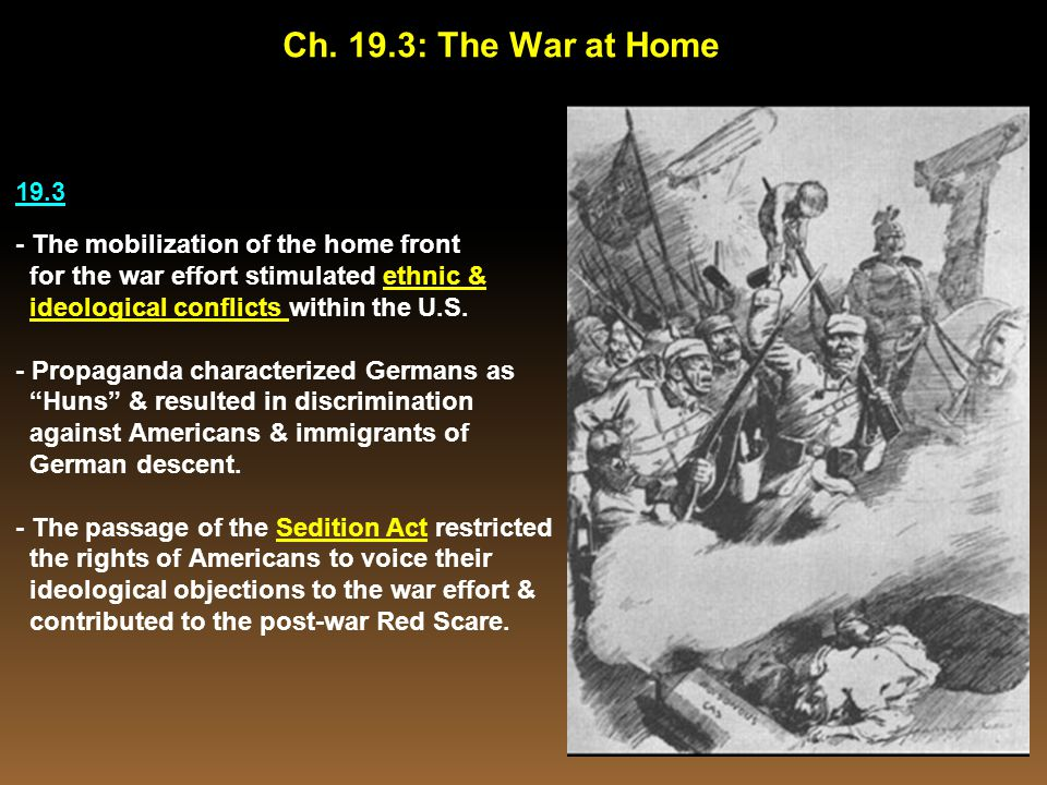 Ch. 19.3: The War at Home 19.3 - The mobilization of the home front
