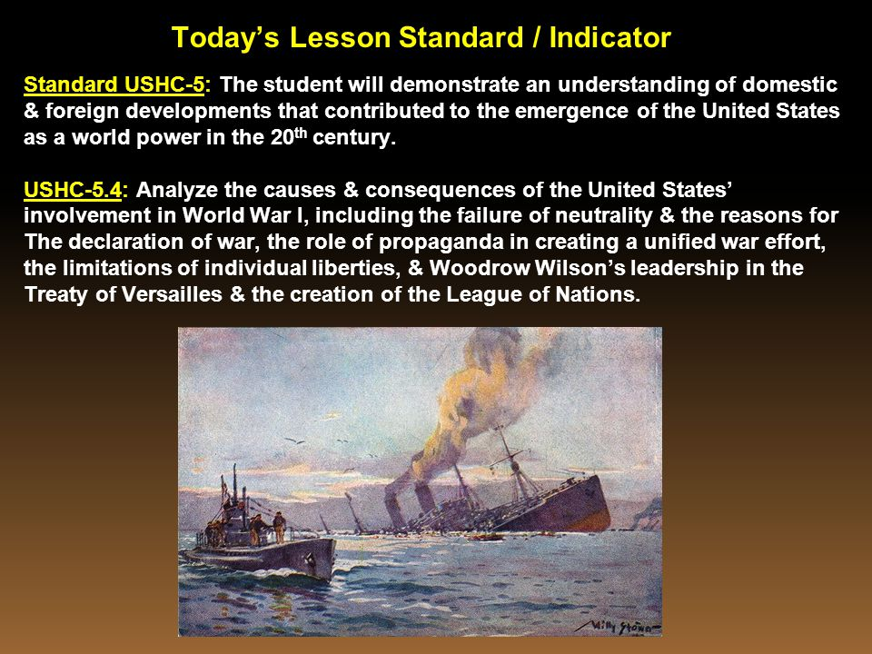 Today's Lesson Standard / Indicator
