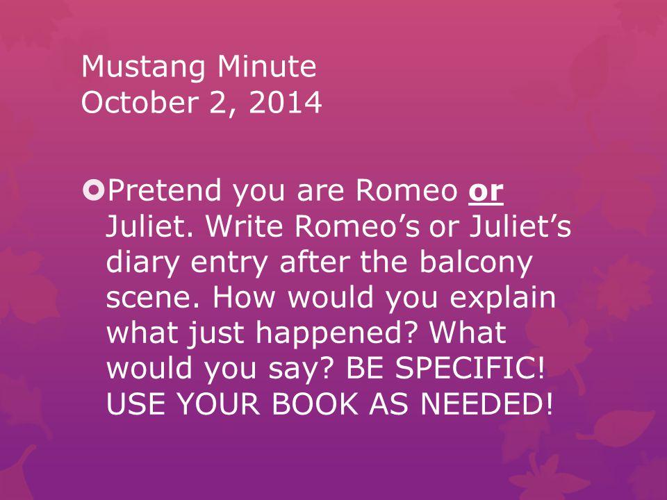 Mustang Minute October 2, 2014