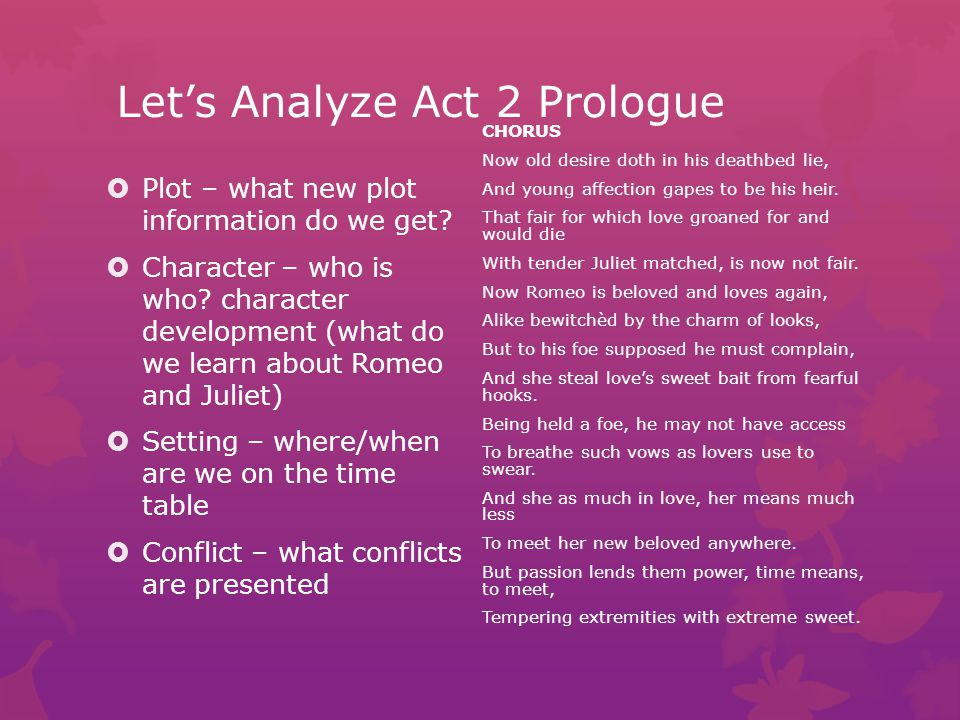 Let's Analyze Act 2 Prologue