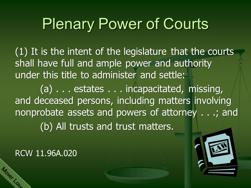 Plenary Power of Courts
