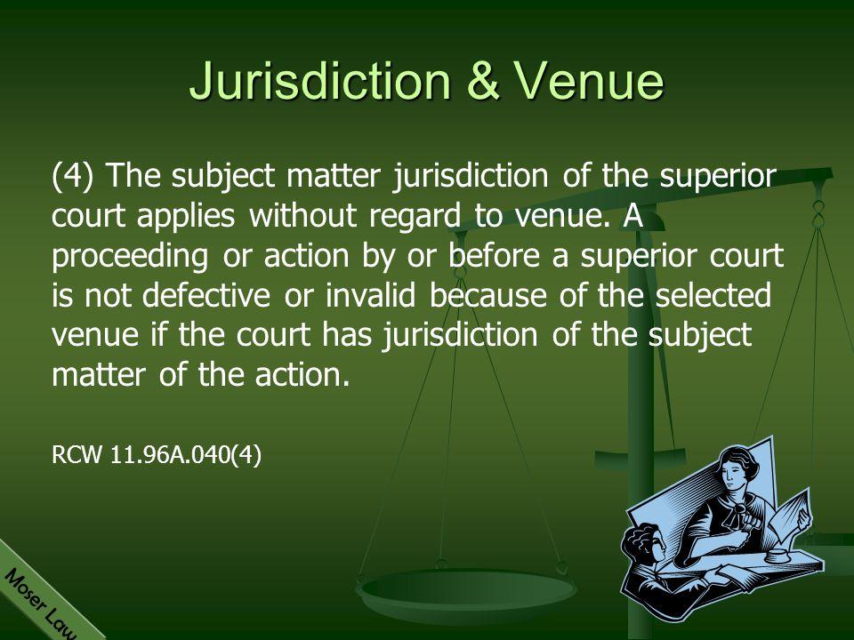 Jurisdiction & Venue