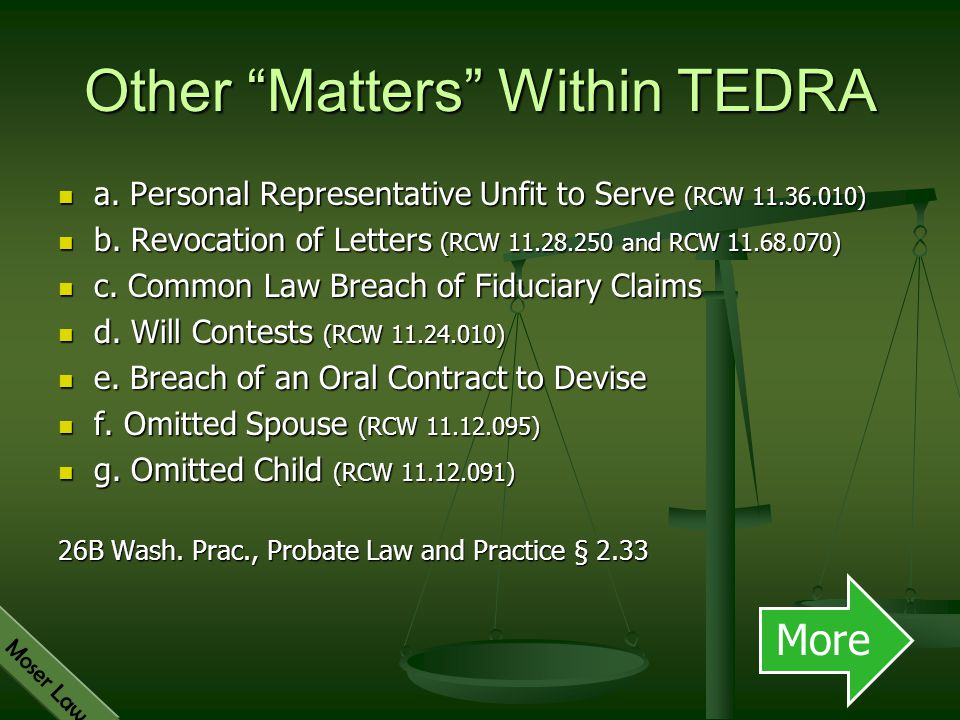Other Matters Within TEDRA