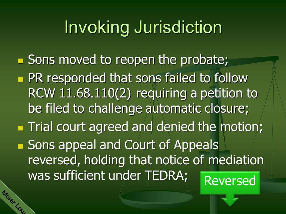 Invoking Jurisdiction