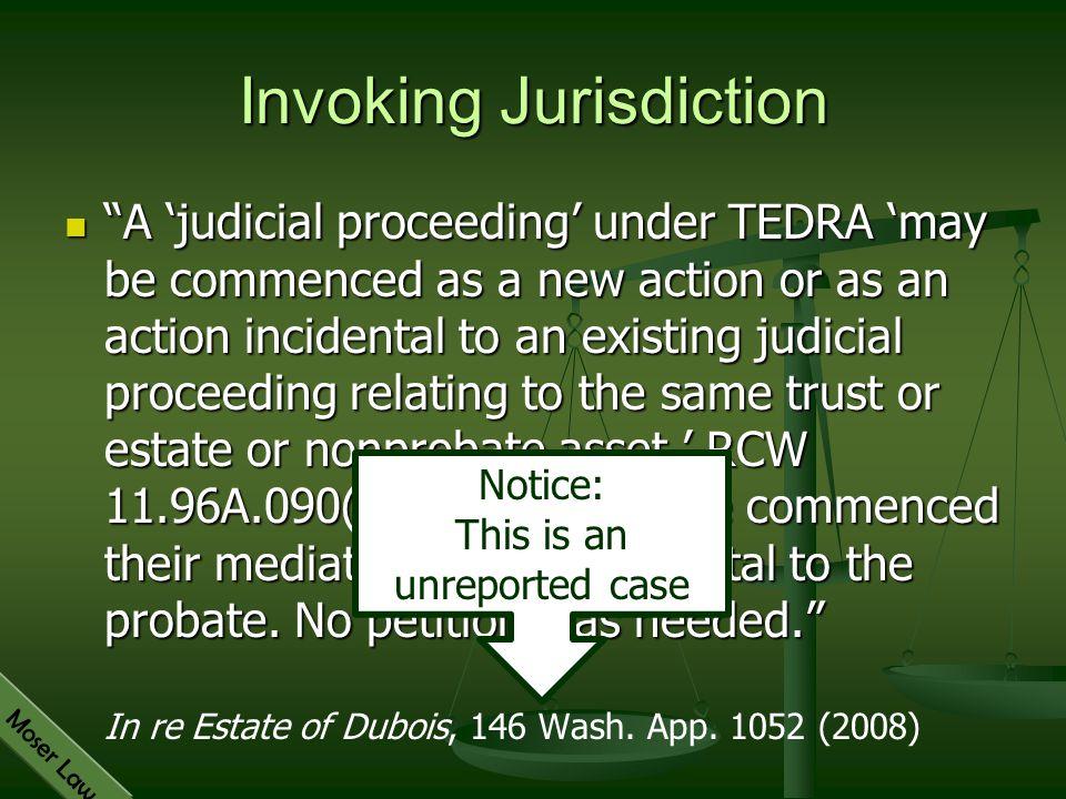 Invoking Jurisdiction