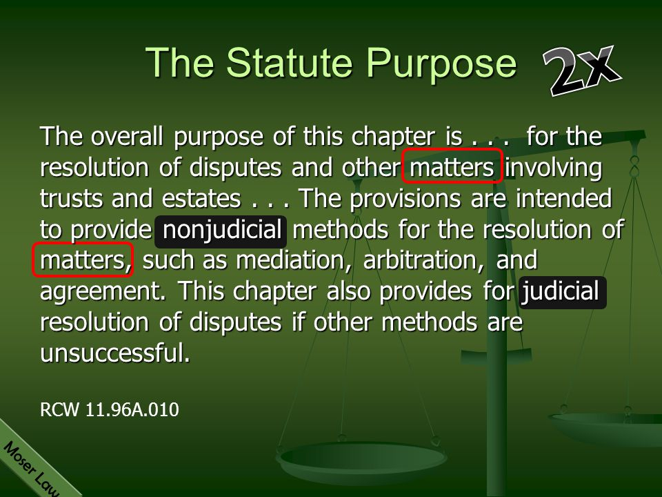 The Statute Purpose 2x.