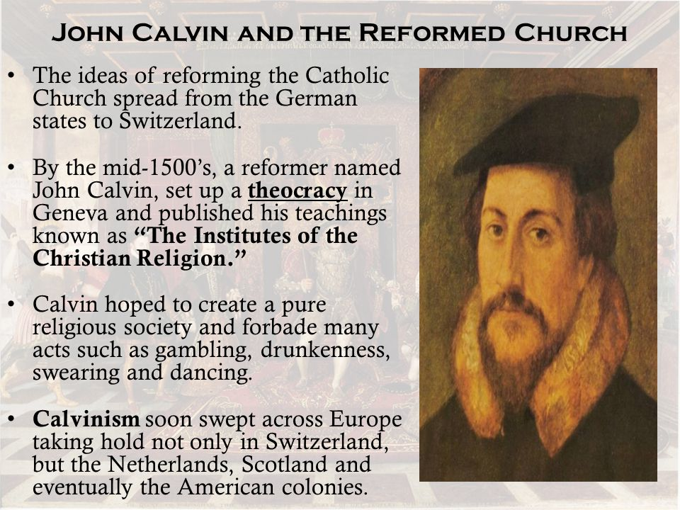 John Calvin and the Reformed Church