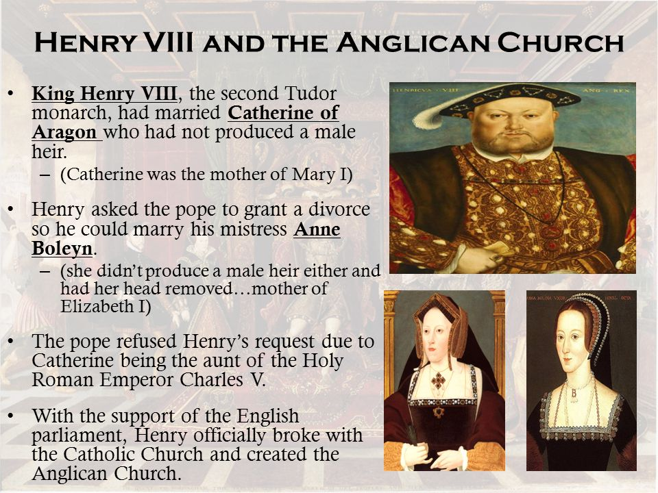 Henry VIII and the Anglican Church