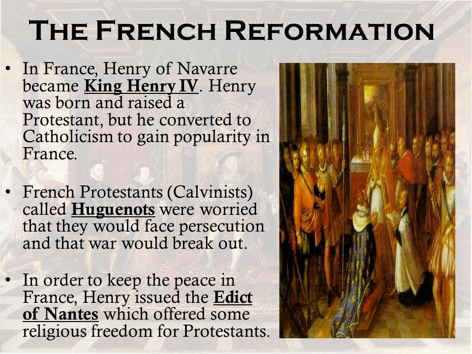 The French Reformation