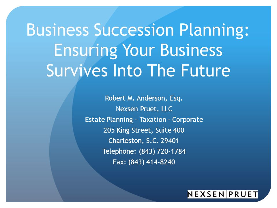 Estate Planning – Taxation – Corporate