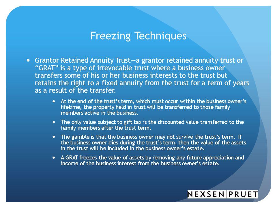 Freezing Techniques