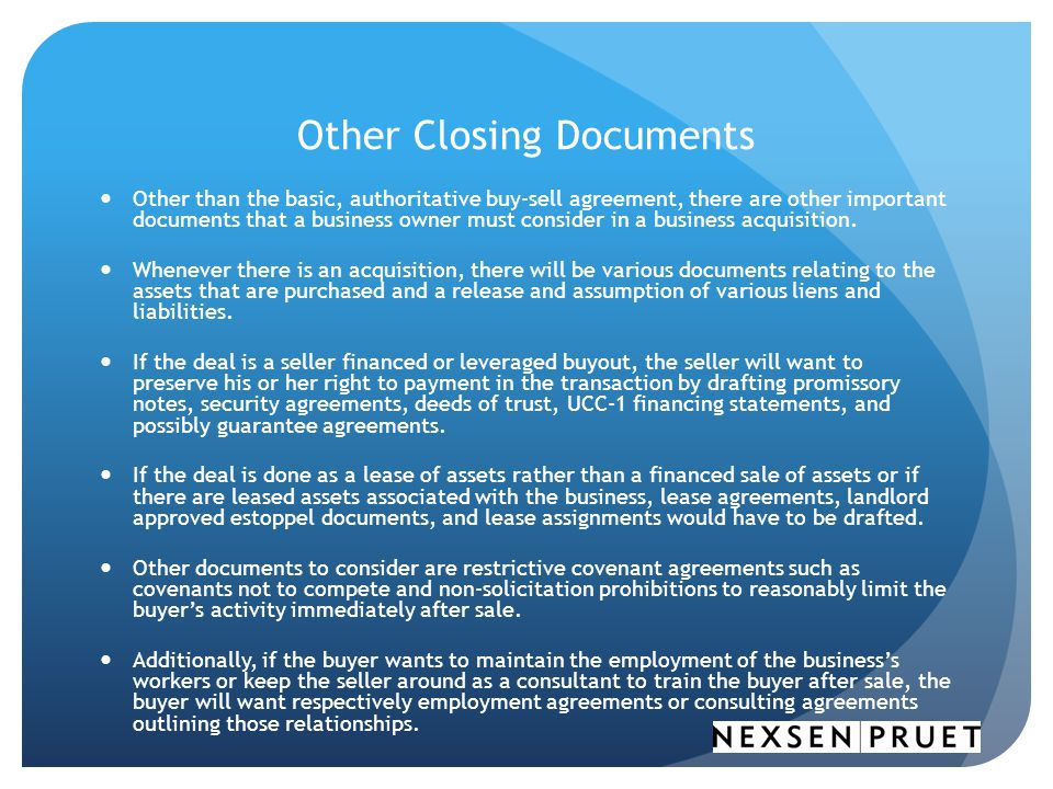 Other Closing Documents