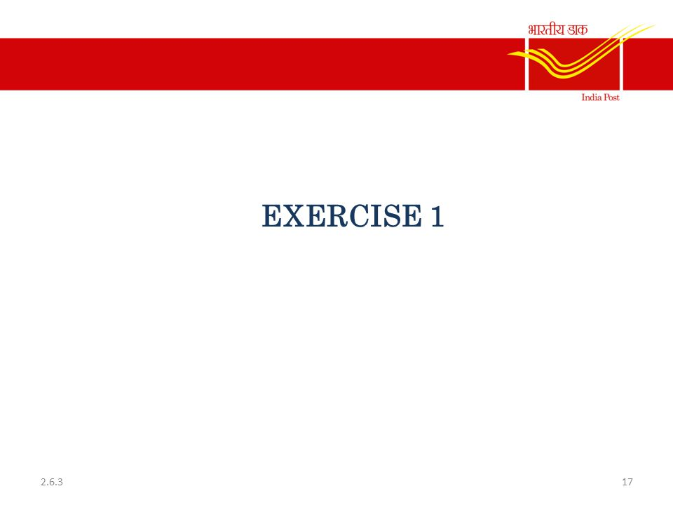 EXERCISE 1 2.6.3