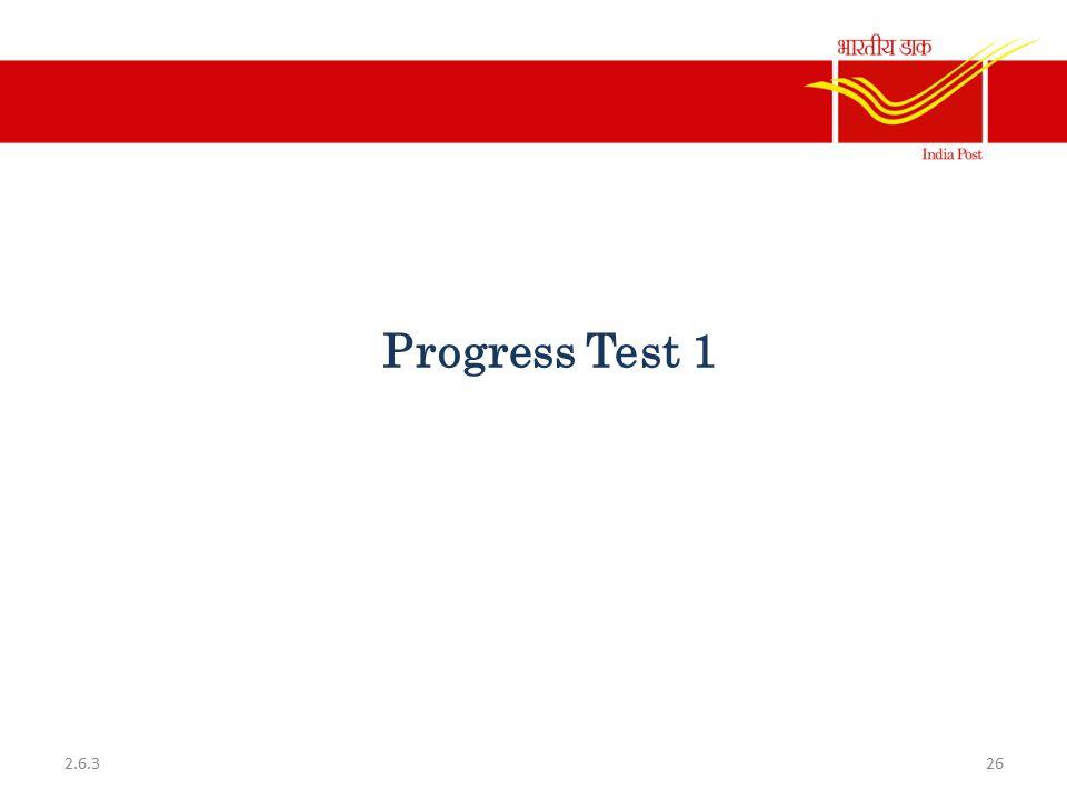Progress Test 1 2.6.3
