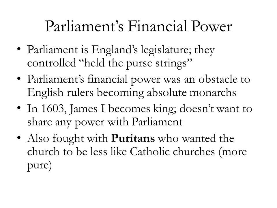 Parliament's Financial Power