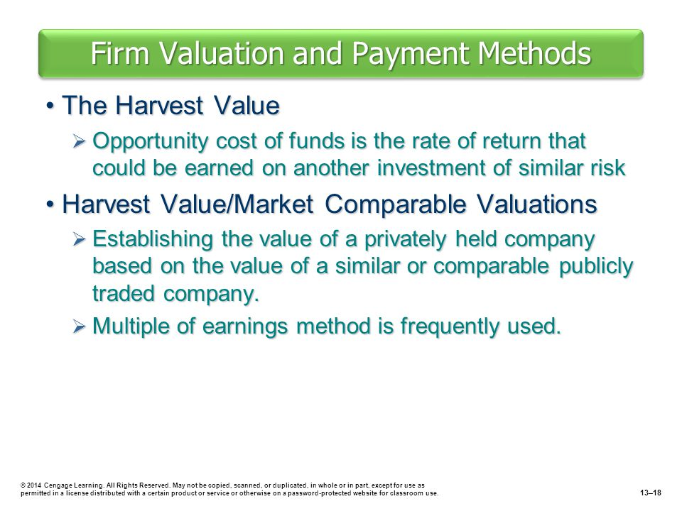 Firm Valuation and Payment Methods
