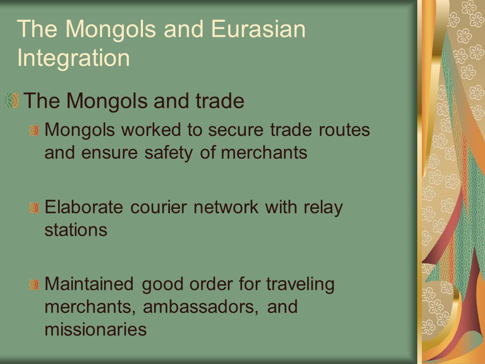 The Mongols and Eurasian Integration