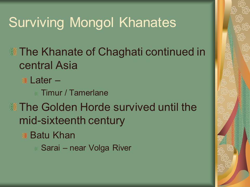 Surviving Mongol Khanates