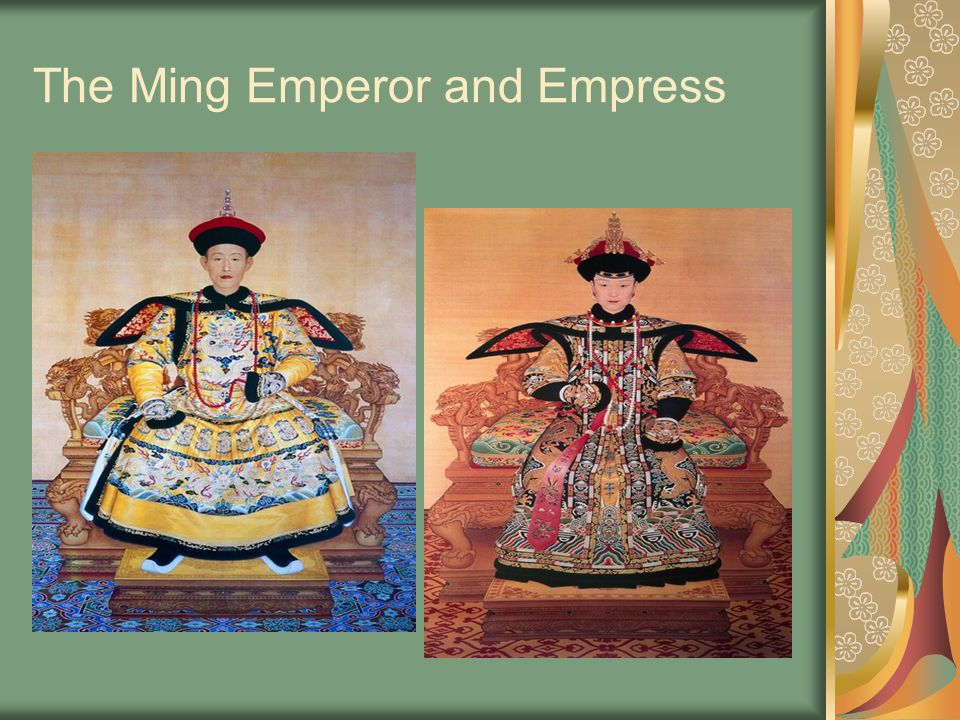 The Ming Emperor and Empress