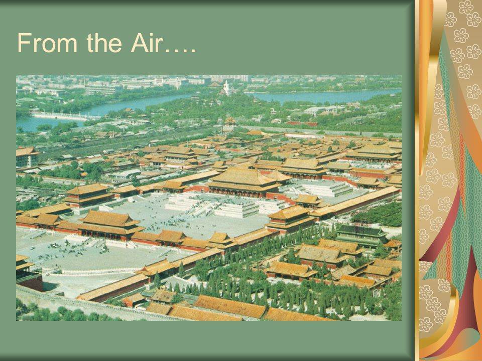 From the Air….