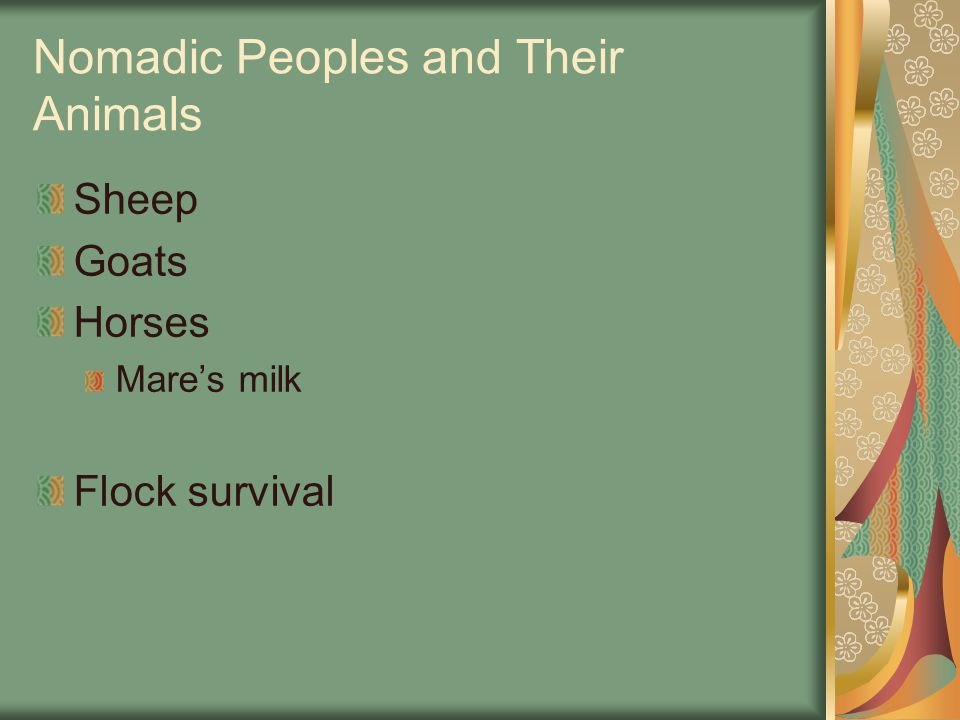Nomadic Peoples and Their Animals