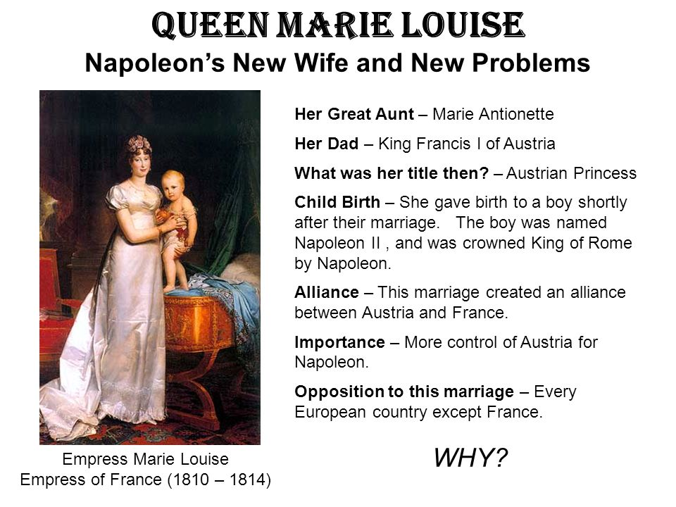 Queen Marie Louise Napoleon's New Wife and New Problems