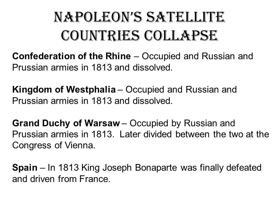 Napoleon's Satellite Countries Collapse