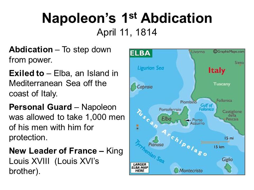 Napoleon's 1st Abdication April 11, 1814