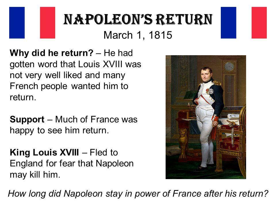 Napoleon's Return March 1, 1815