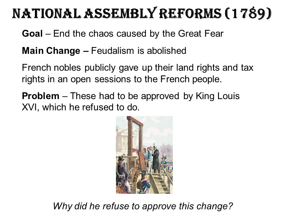 National Assembly Reforms (1789)