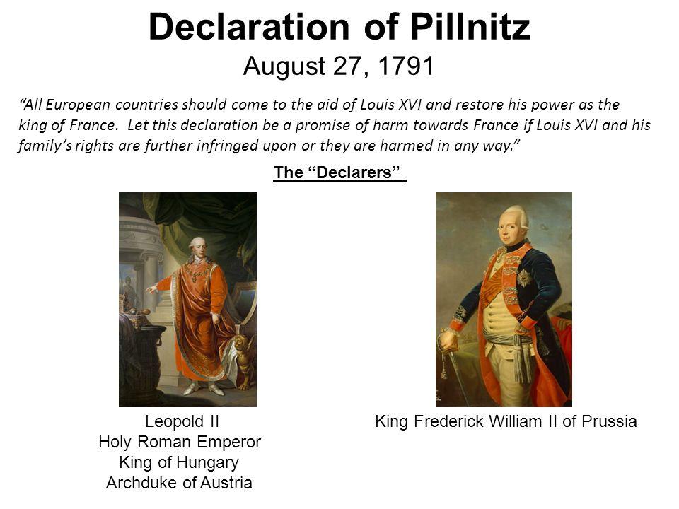 Declaration of Pillnitz August 27, 1791