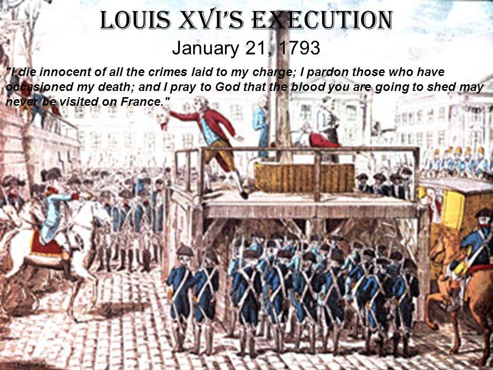 Louis XVI's Execution January 21, 1793