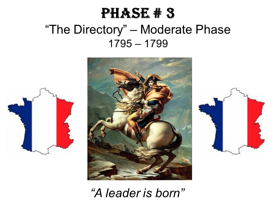 Phase # 3 The Directory – Moderate Phase 1795 – 1799