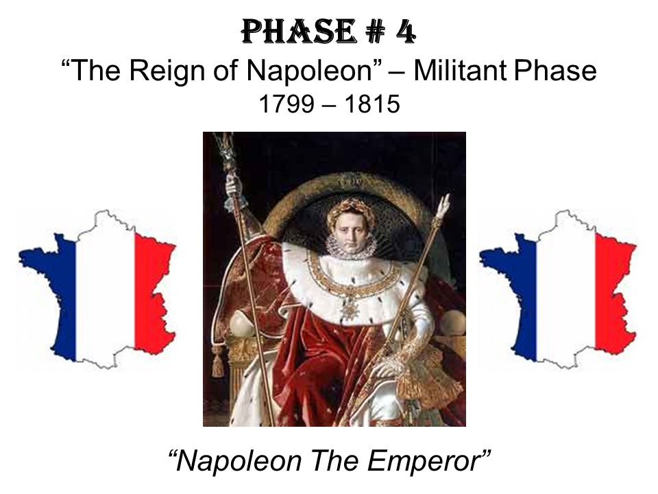 Phase # 4 The Reign of Napoleon – Militant Phase 1799 – 1815