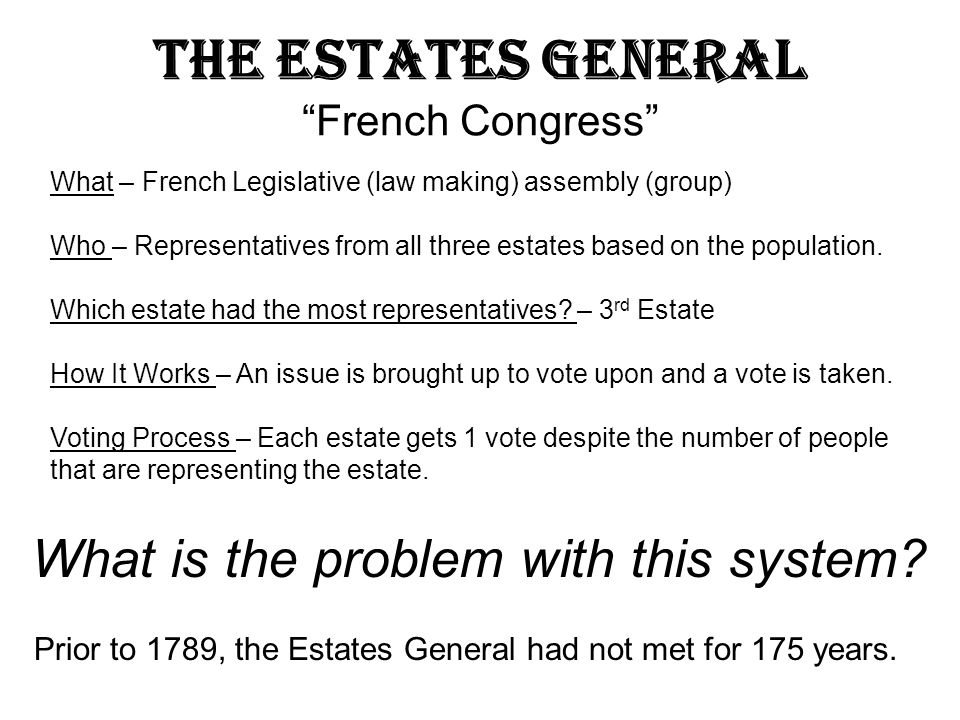 The Estates General French Congress