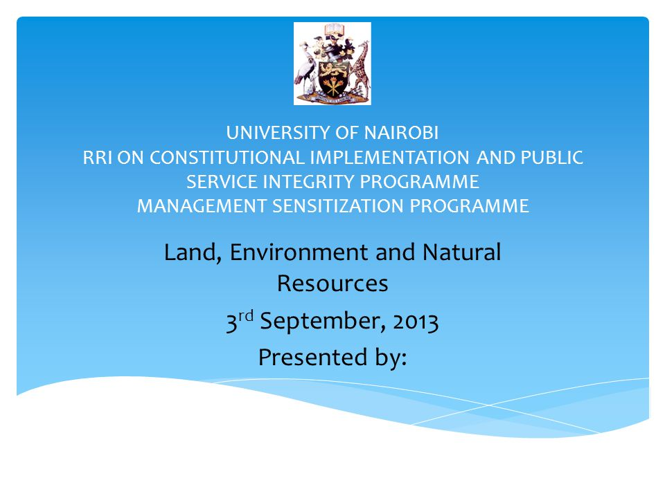 Land, Environment and Natural Resources